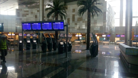 Examples of Rockwell Collins technology include airport information displays, as well as self-serve kiosks.